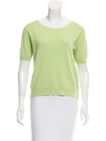 Chanel Short Sleeve Cashmere Sweater None