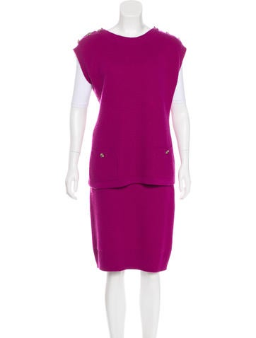Chanel Paris-Bombay Cashmere Skirt Set None