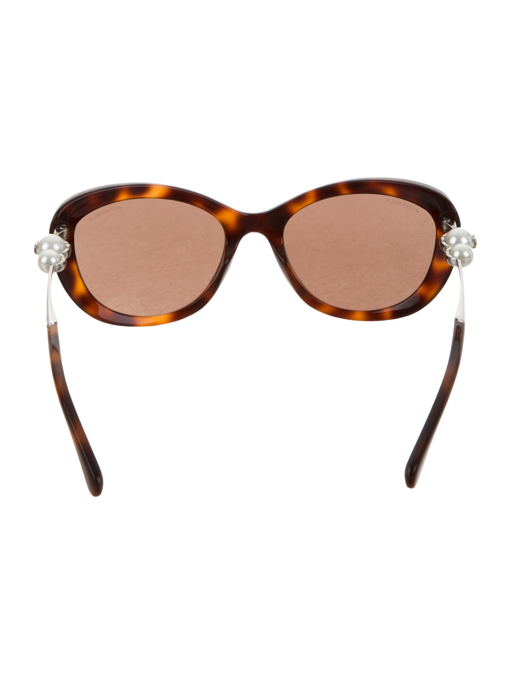 Chanel Cat Eye Pearl Sunglasses