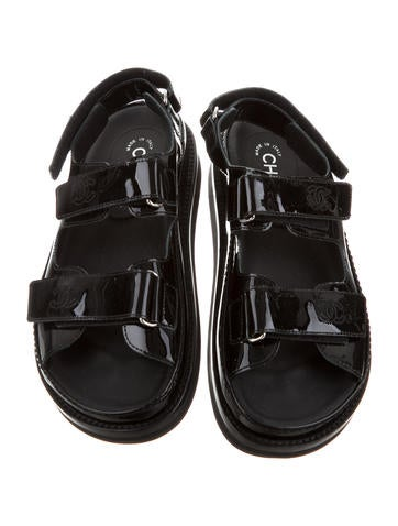 Chanel CC Patent Leather Sandals - Shoes - CHA199974 | The ...