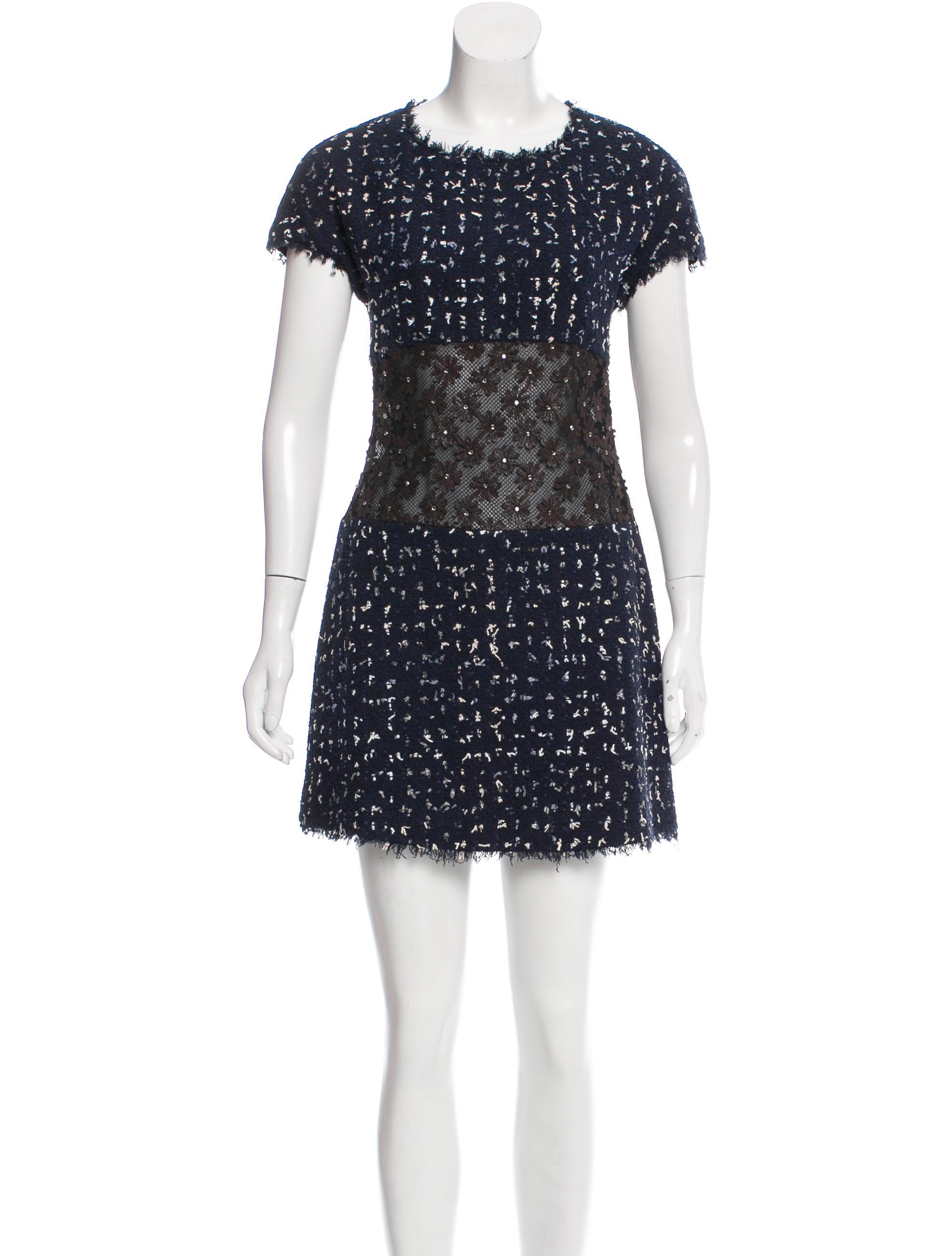 Chanel Camellia Tweed Dress - Clothing - CHA200108