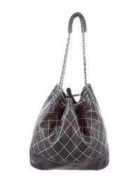 aaa44c6cb38a Chanel Surpique Drawstring Bucket Bag - Handbags - CHA200302   The ...