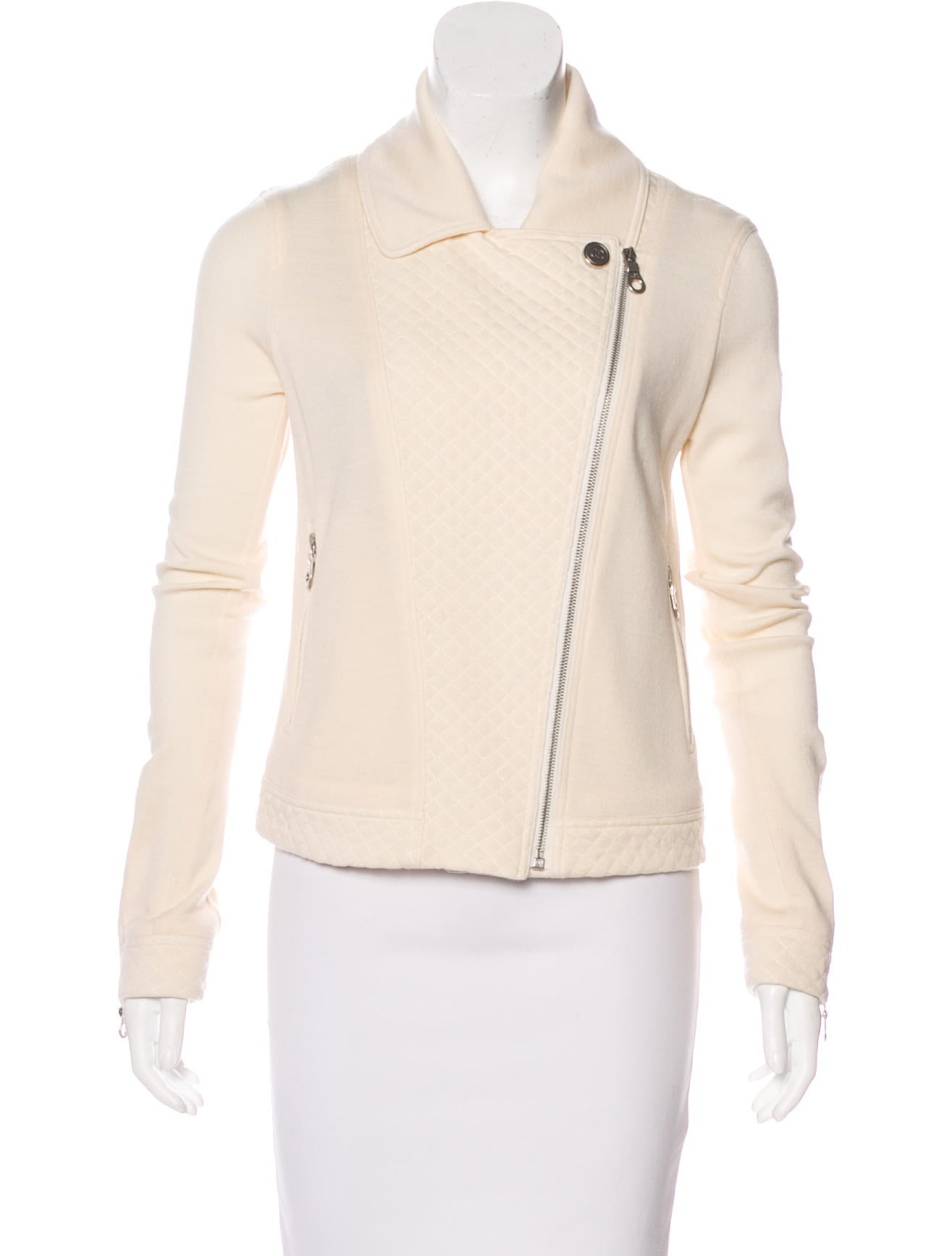 Chanel Wool Quilted Jacket Clothing Cha200382 The