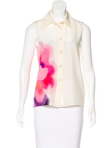 Chanel 2015 Silk Top None
