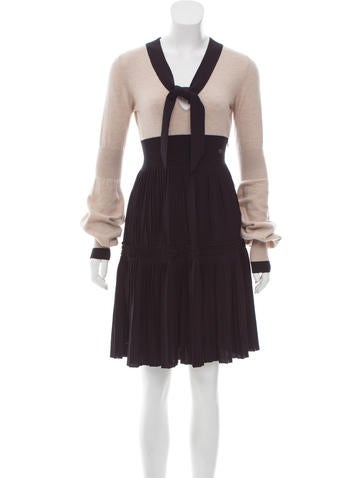 Chanel Wool A-Line Dress None