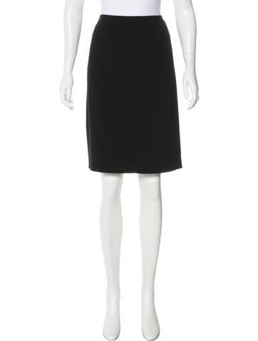 Chanel Wool Straight Skirt None