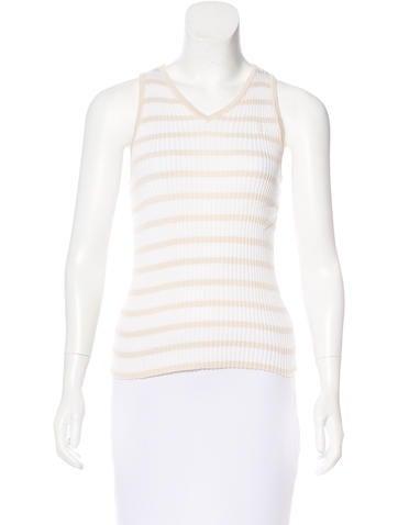 Chanel Striped Knit Top None