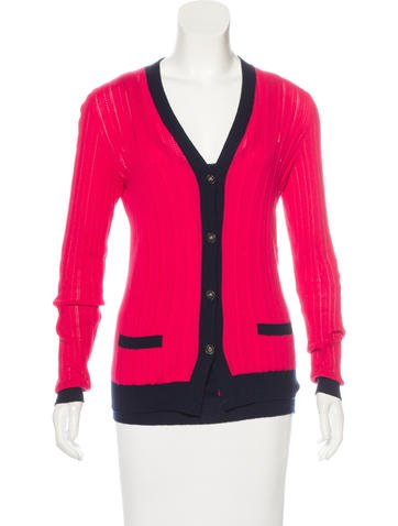 Chanel Colorblock Cardigan Set None