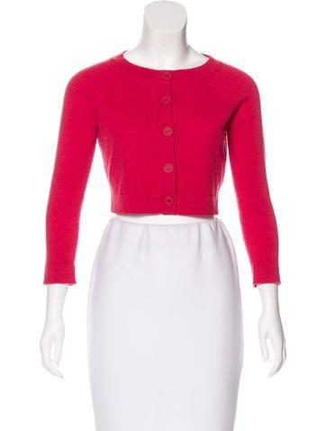 Chanel Cashmere Crop Cardigan None