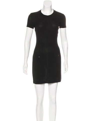 Chanel Mini Rib Knit Dress None