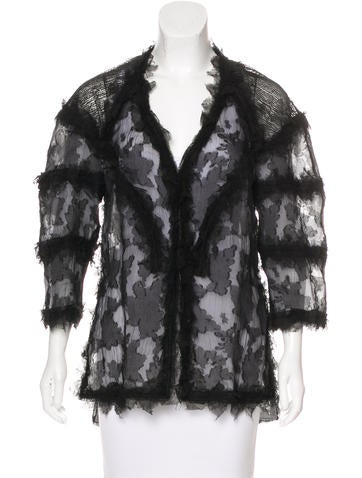 Chanel Silk Tulle Jacket None