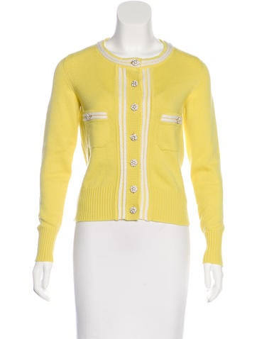 Chanel Cashmere Long Sleeve Cardigan None