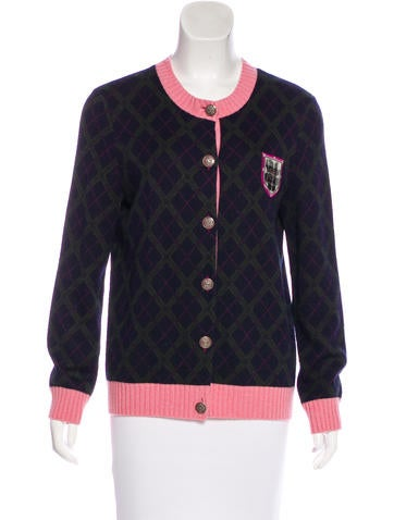 Chanel Paris-Edinburg Cashmere Cardigan None