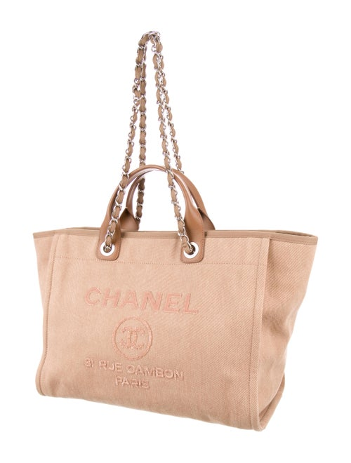 bc0dd8ba267a Chanel 2017 Canvas Sequin Large Deauville Tote - Handbags ...