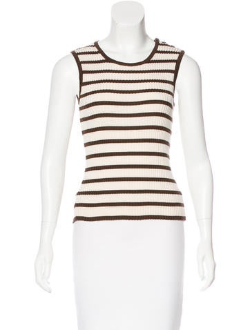 Chanel Vintage Striped Top None