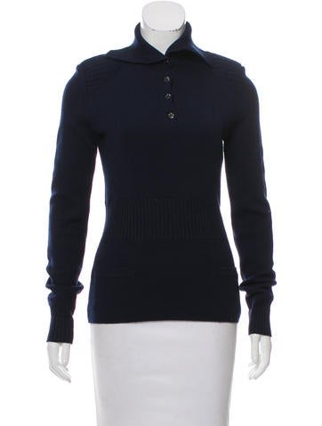 Chanel Structured Wool Sweater None