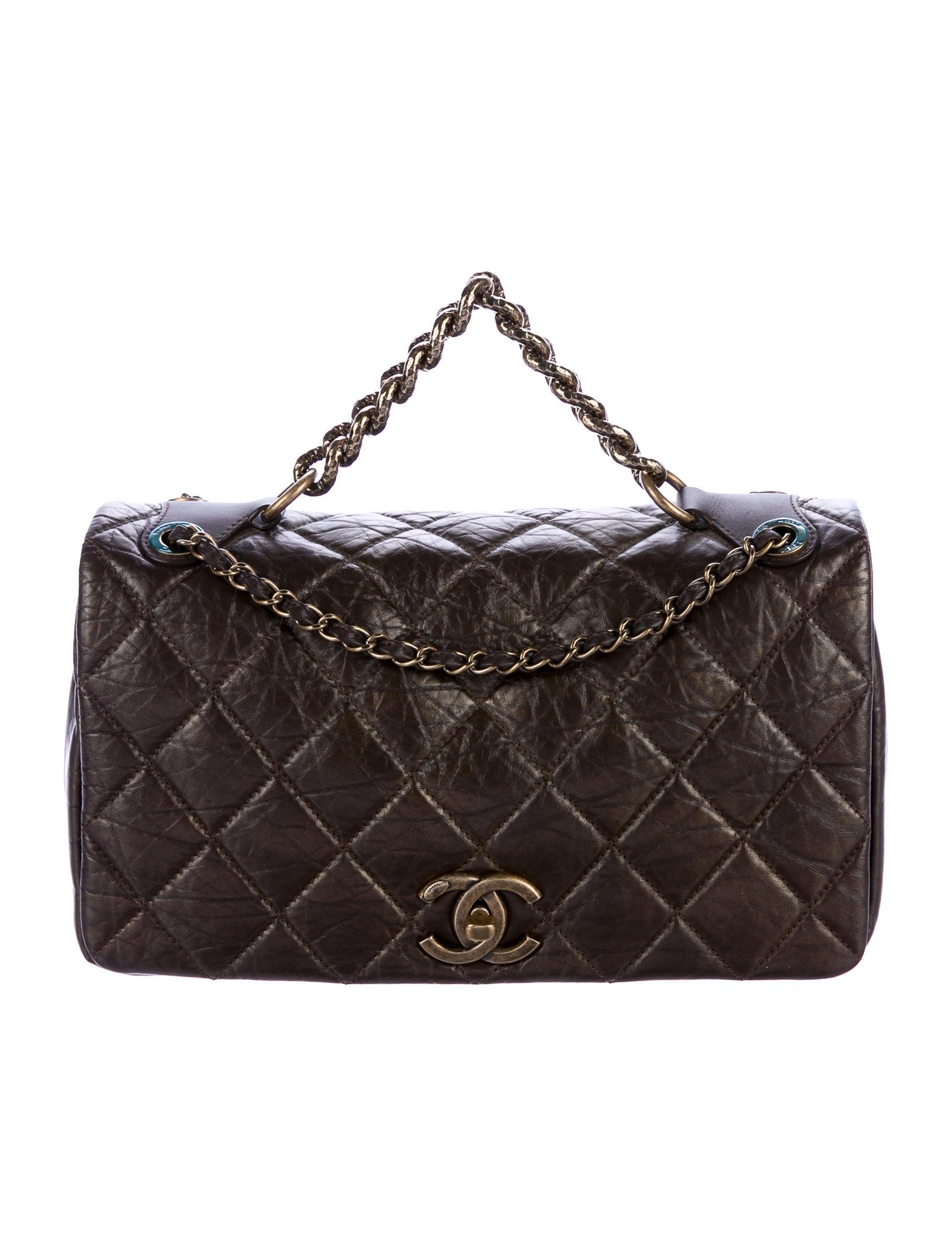 3d5434e1a282 Chanel Pondicherry Large Flap Bag w/ Tags - Handbags - CHA203609 | The  RealReal
