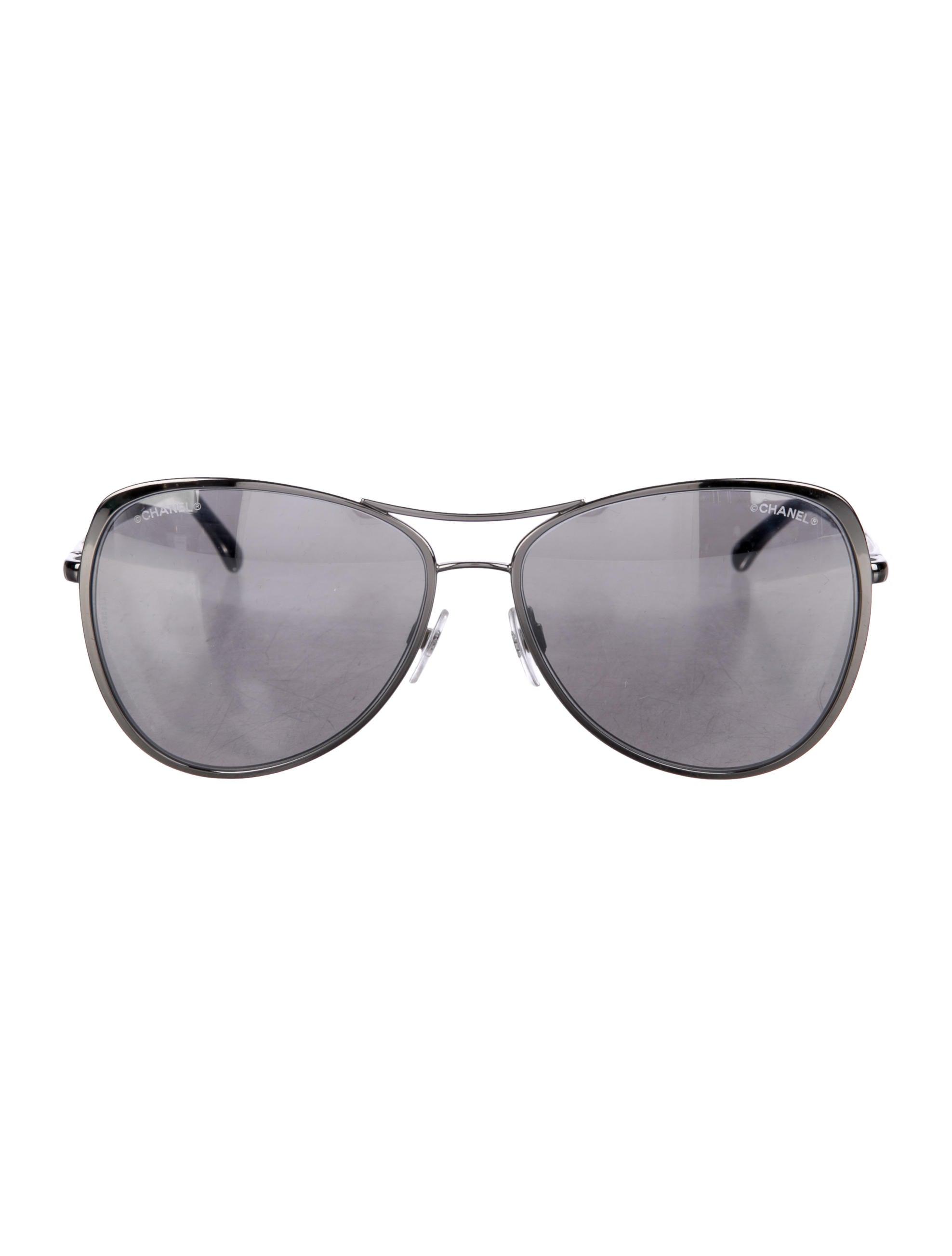 Chanel 2017 Pilot Summer Mirrored Sunglasses - Accessories ...
