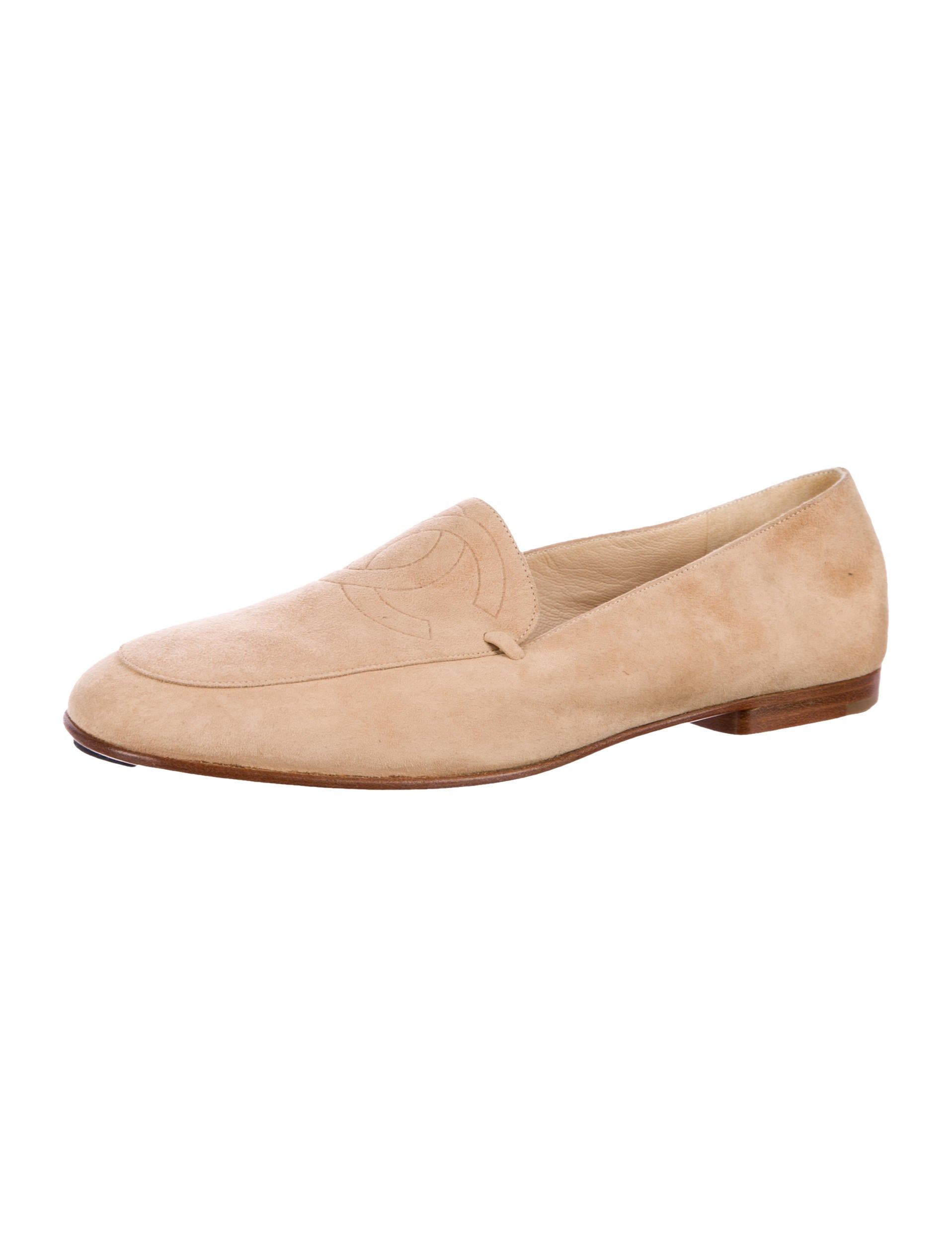 Chanel CC Suede Loafers - Shoes - CHA203653 | The RealReal
