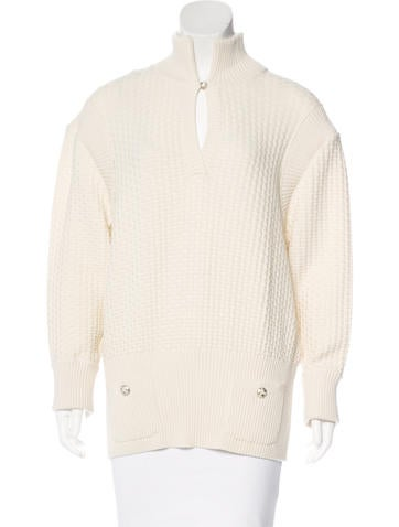 Chanel Wool Purl Knit Sweater None