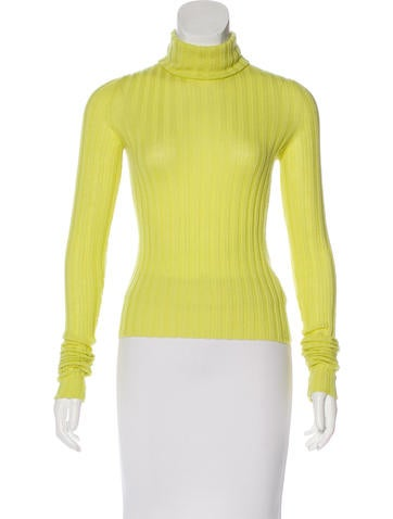 Chanel Cashmere Rib Knit Sweater None