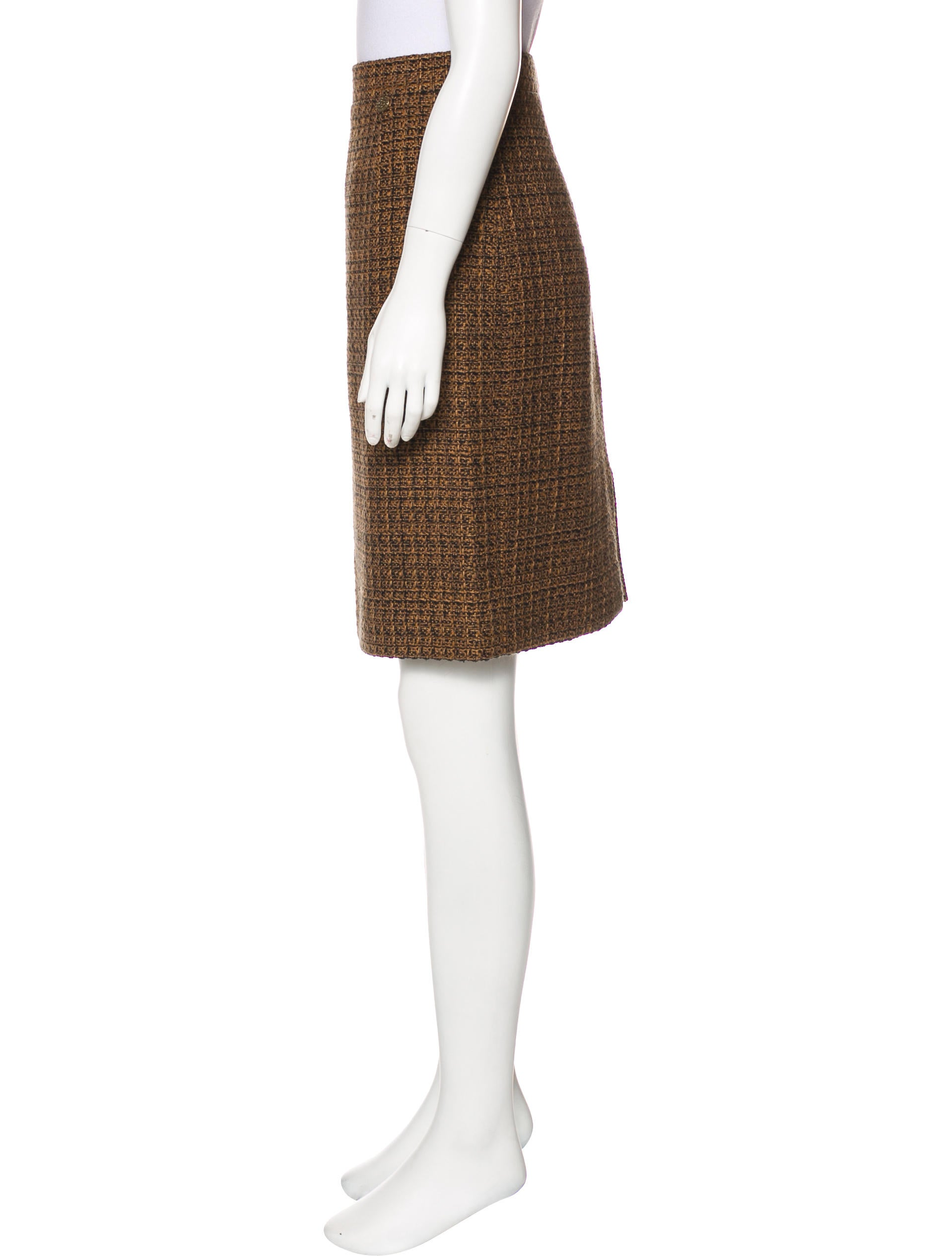 chanel tweed pencil skirt clothing cha205372 the