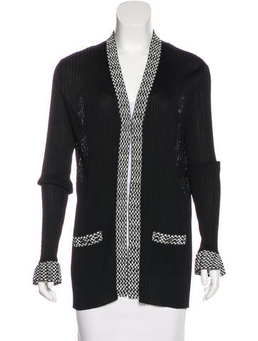 Chanel 2017 Rib Knit Cardigan None