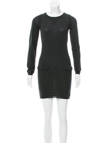 Chanel Ribbed Wool Dress None