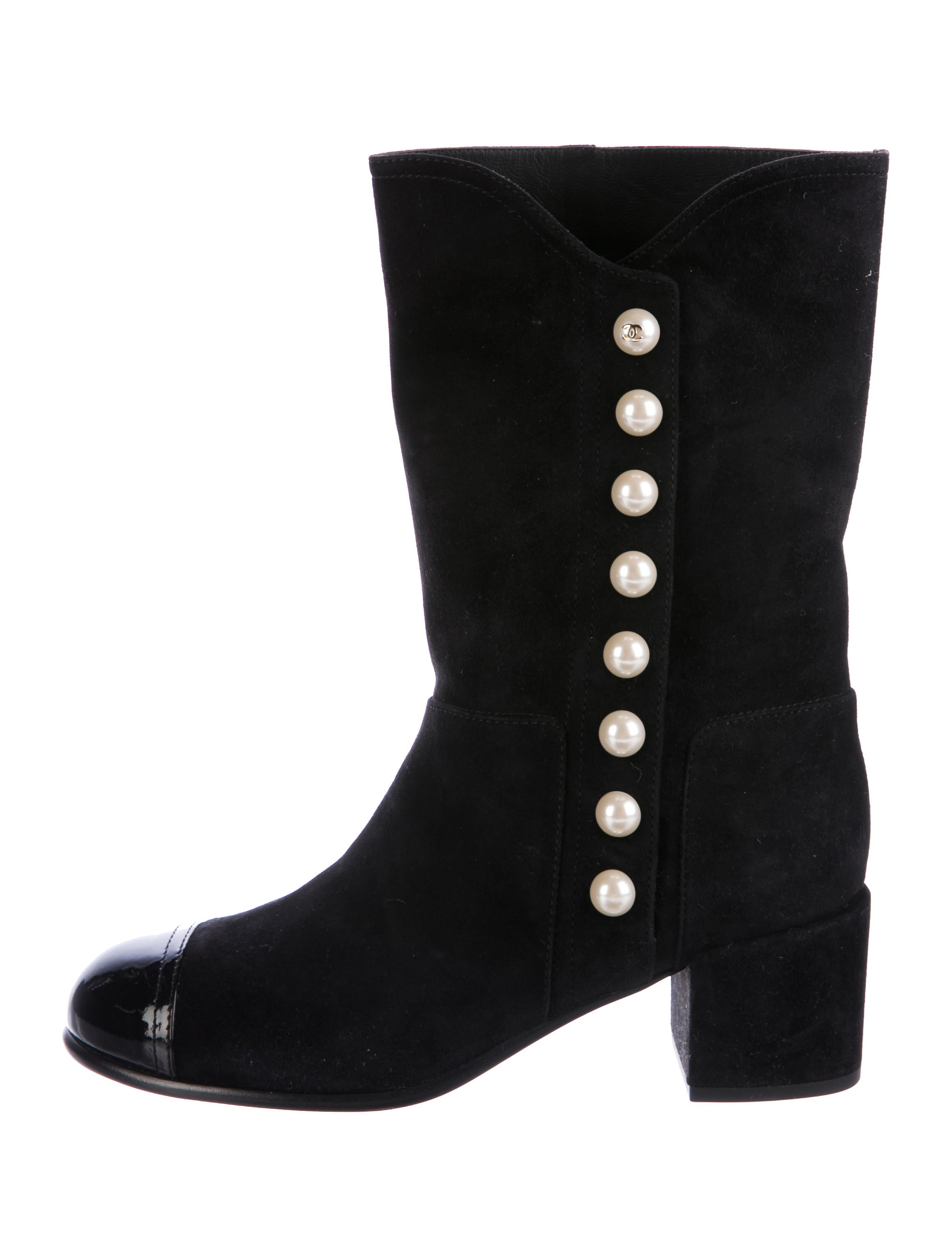 chanel 2016 suede mid calf boots shoes cha206808 the