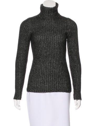 Chanel Marled Rib Knit Sweater None