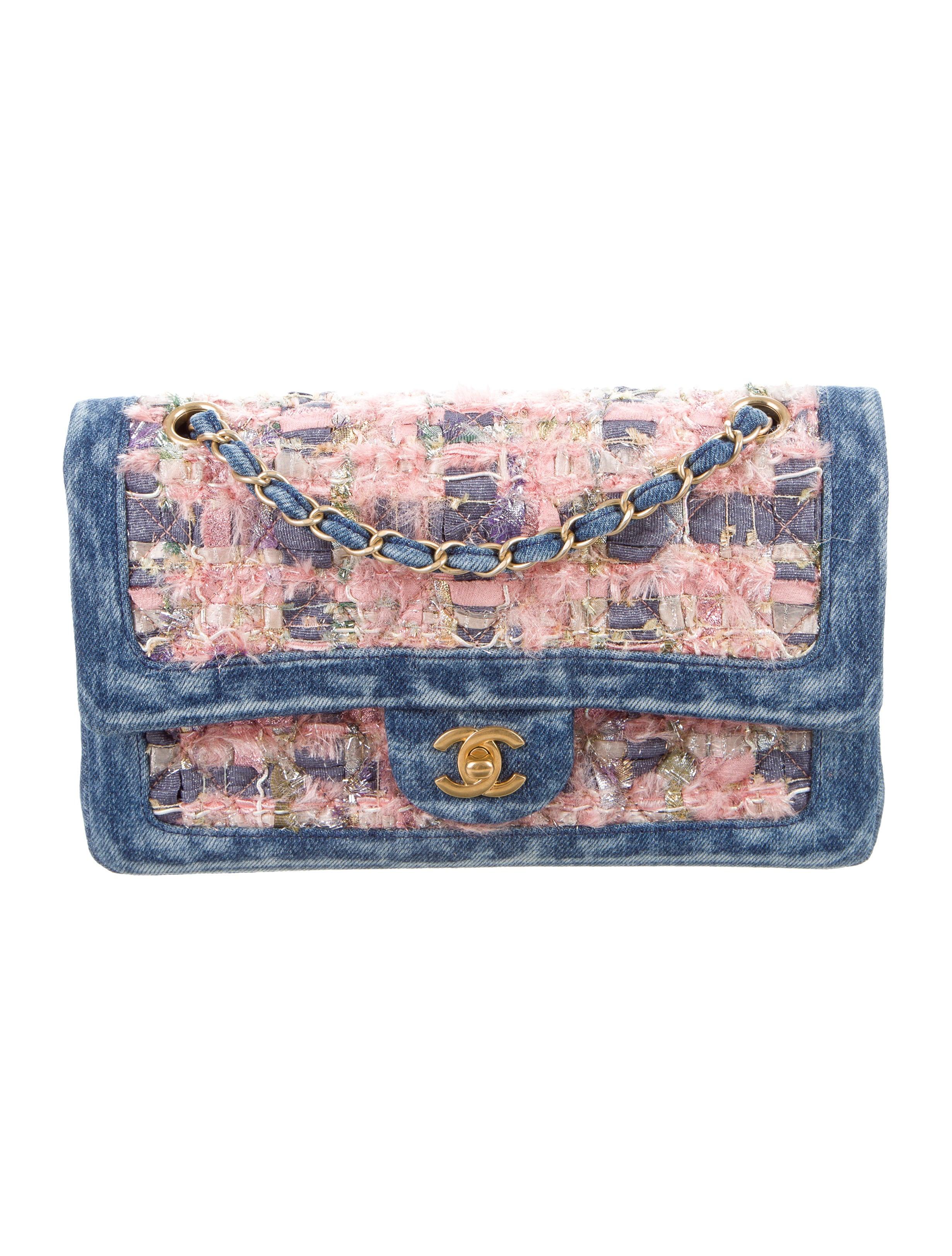 cc6aaf1aae26 Chanel 2016 Denim Tweed Classic Flap Bag w  Tags - Handbags ...