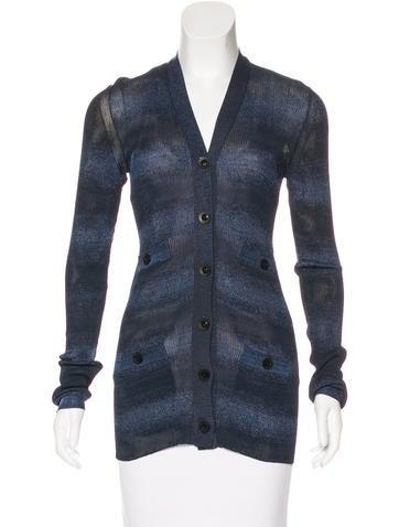 Chanel Metallic Knit Cardigan None