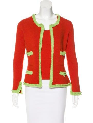 Chanel Cashmere Bicolor Cardigan Set None