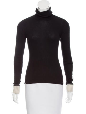 Chanel Cashmere Turtleneck Top None