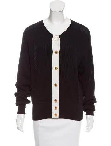 Chanel Vintage Rib Knit Cardigan None