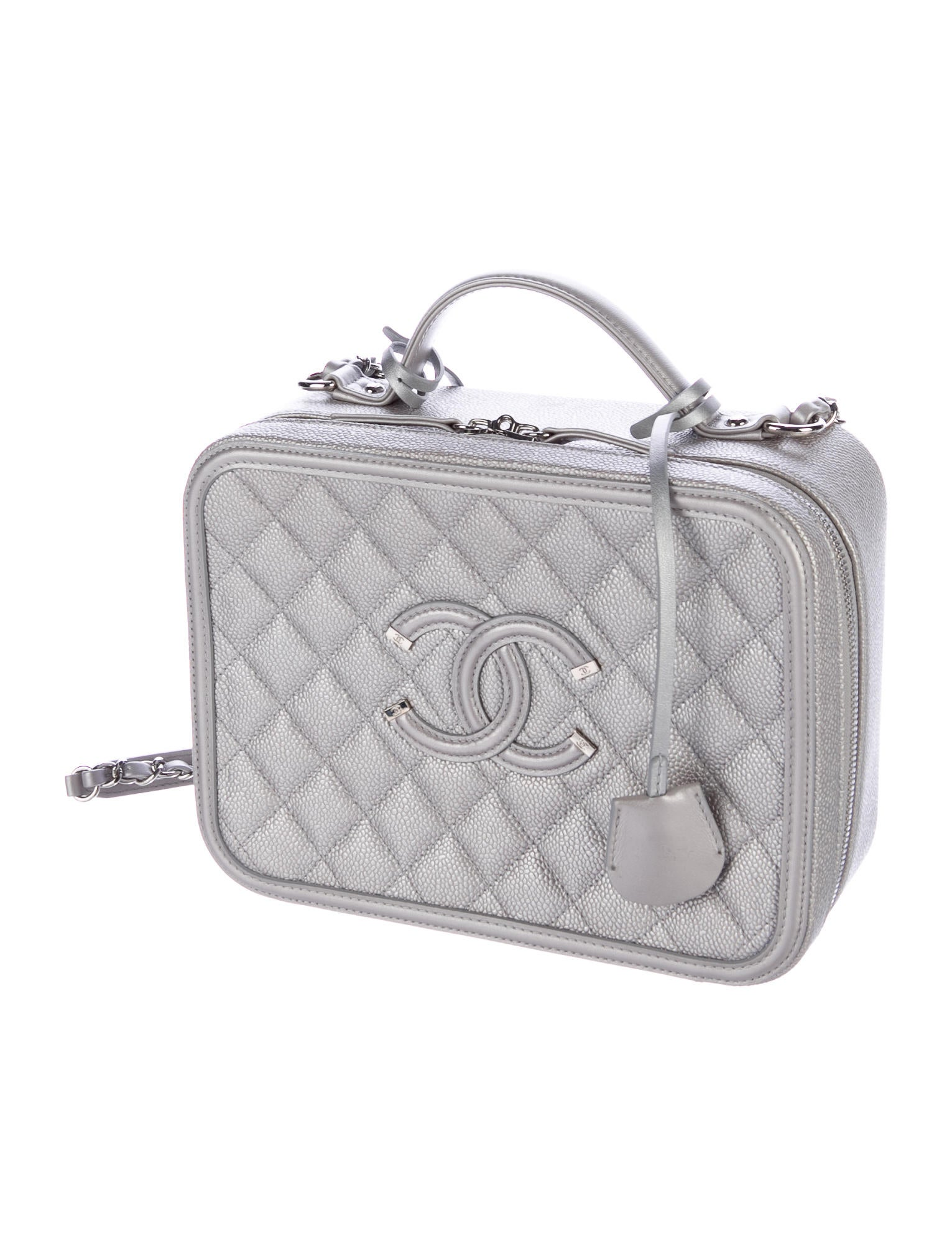 Chanel 2016 Cc Filigree Vanity Case Bag Handbags