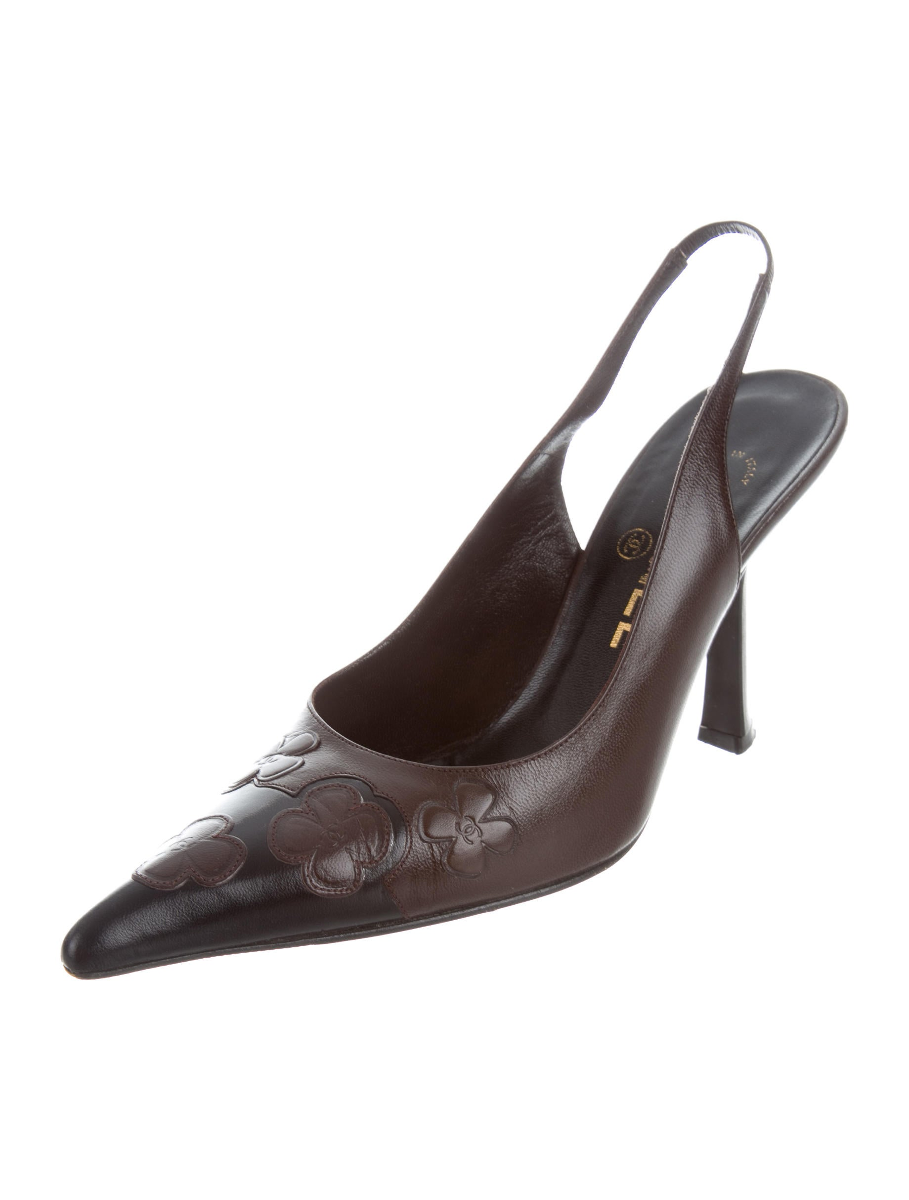 Chanel Leather Slingback Pumps - Shoes - CHA208079 | The RealReal