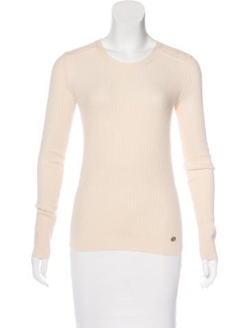Chanel Rib Knit Cashmere Sweater None