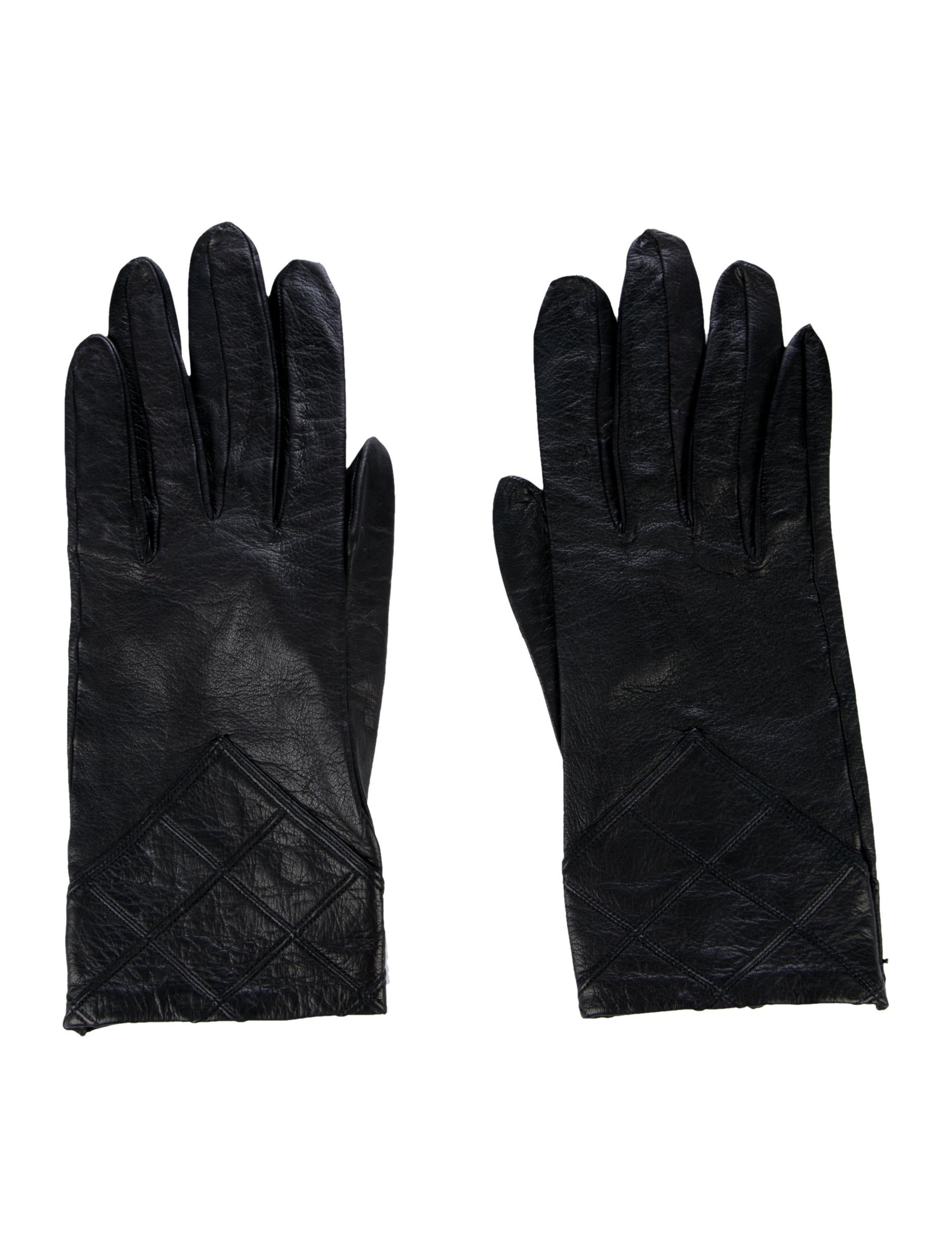 Chanel Lambskin Leather Gloves - Accessories - CHA208941 ...