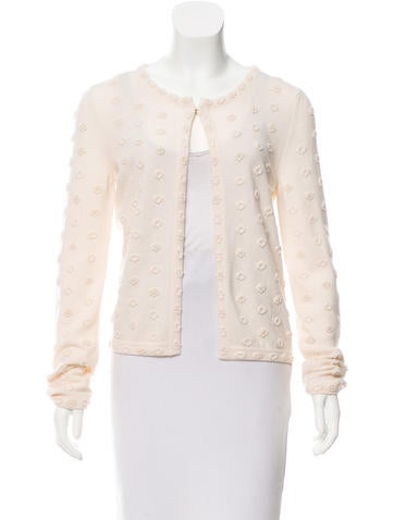 Chanel Embellished Cashmere Cardigan None