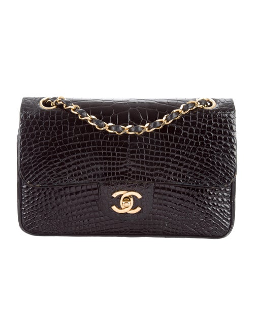 33bf3cfff3fd5d Chanel Vintage Alligator Small Classic Double Flap Bag - Handbags ...