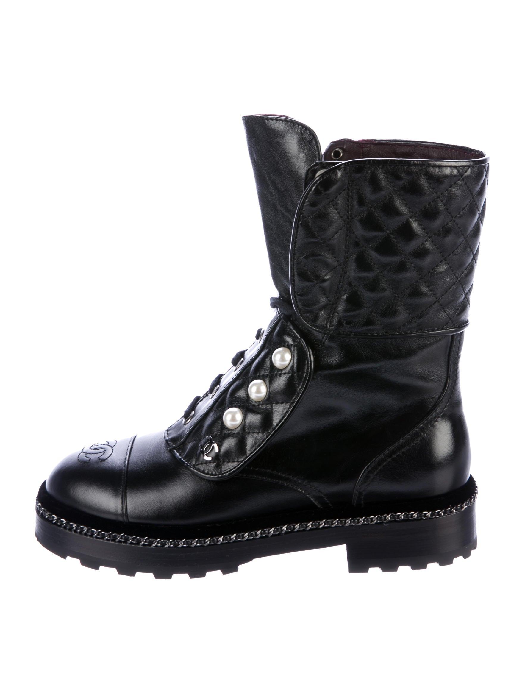 Chanel 2017 CC Combat Boots - Shoes