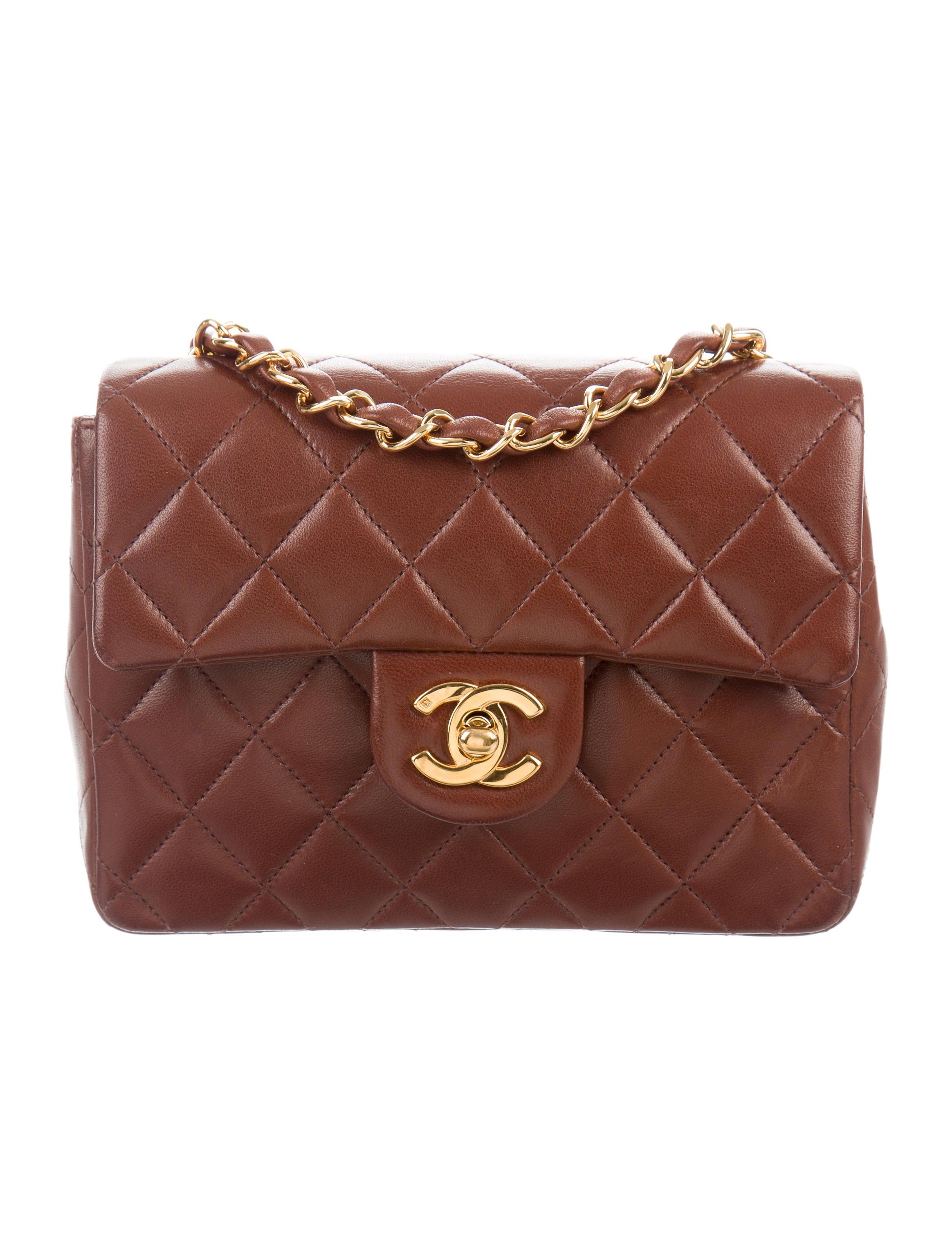 Chanel Väskor Vintage : Chanel vintage classic mini square flap bag handbags