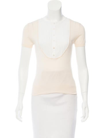 Chanel Cashmere & Silk-Blend Top None