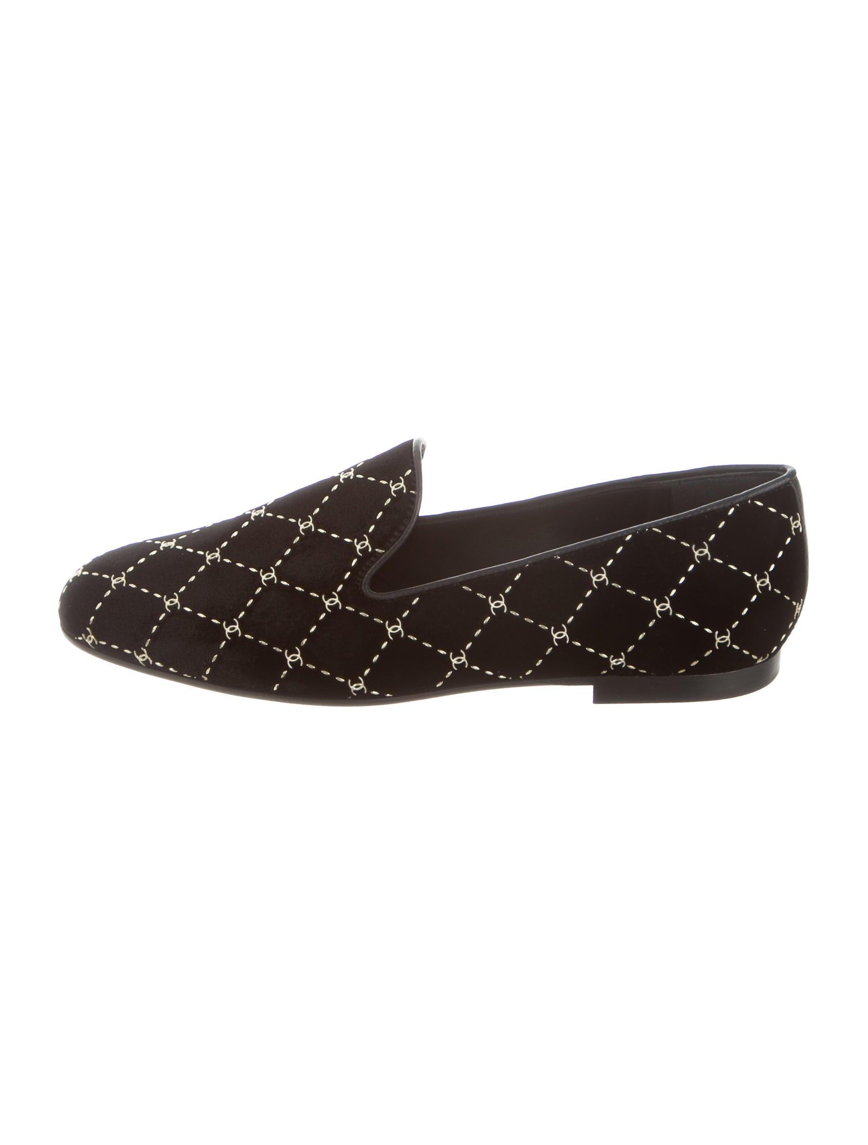 bde58de3742 Chanel 2017 CC Velvet Loafers w  Tags - Shoes - CHA210530