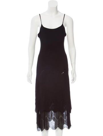 Chanel Layered Rib Knit Dress None