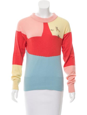 Chanel Cashmere Colorblock Sweater w/ Tags None