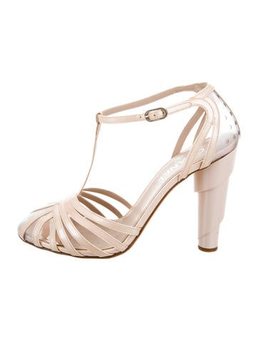 Chanel Patent Leather & PVC Sandals None