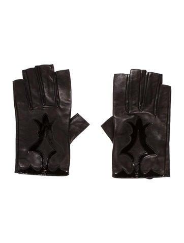 Chanel Lambskin Fingerless Gloves None