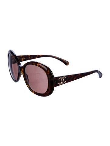 Chanel Round Quilted Sunglasses Accessories Cha212830 The Realreal